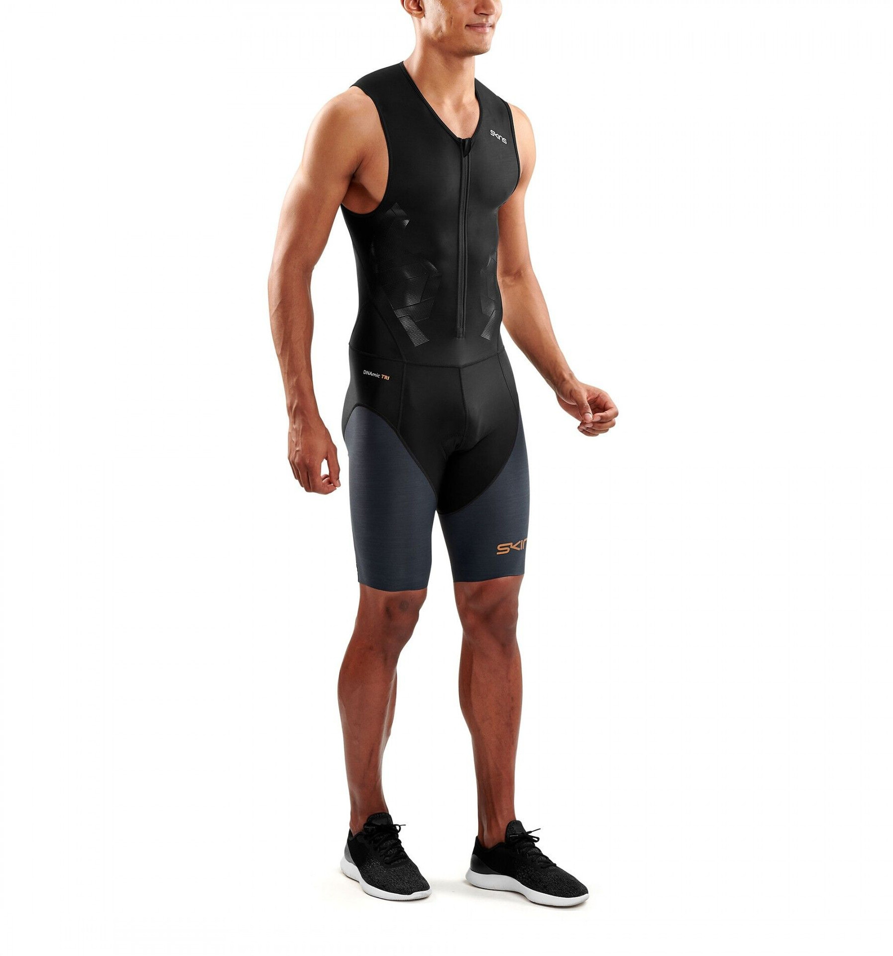 Skins DNAmic Triathlon Skinsuit with Front Zip Damer, blackcarbon